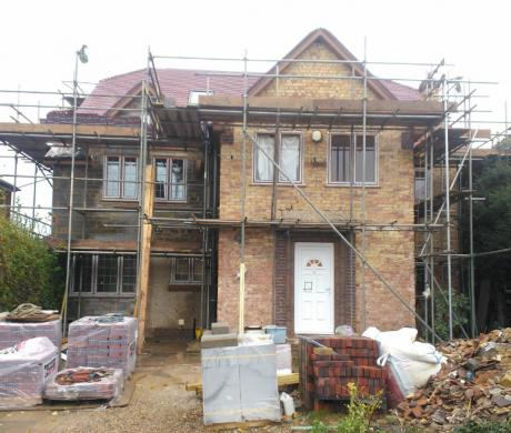Large two storey side and two storey rear extension in gravesend with loft conversion by DKM Consultants