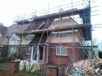 Single storey extension to rear and massive loft conversion with all internal walls ground floor removed by DKM Consultants