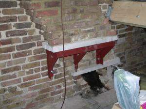 Typical Gallows Braceks for chimnet removal in Gillingham by DKM Consultants